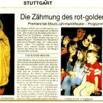 Puppentheater, Marionetten, Kasper, Zeitung - Stuttgart