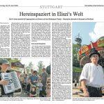 Historischer Jahrmarkt, Presse, Cannstatter/Untertürkheimer Zeitung